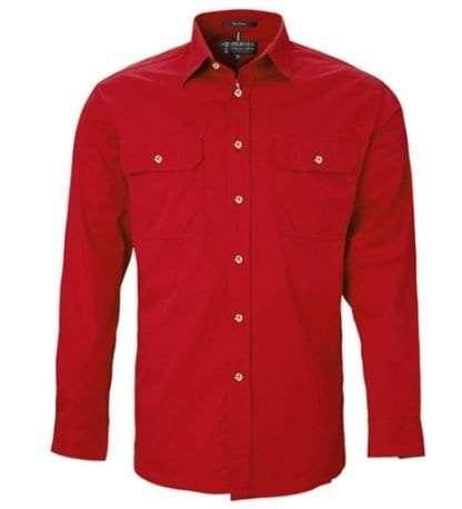 Pilbara LS Full Button Red