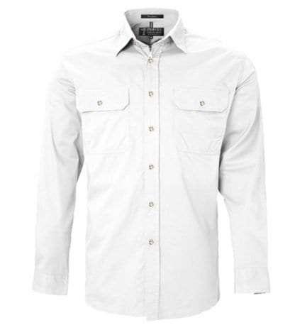 Pilbara LS Full Button White
