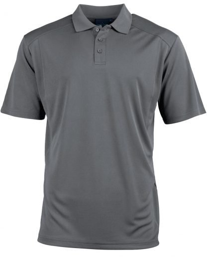 Bamboo Storm Grey Polo - To 5XL & Good for You